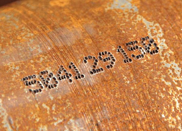 Znakowanie na rurze