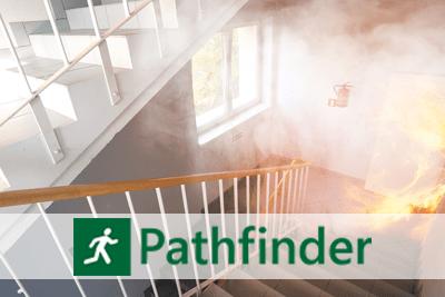 Program do symulacji ewakuacji ludzi z płonącego budynku Pathfinder